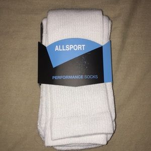 New White allsport athletic socks